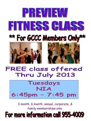 PREVIEW  FITNESS CLASS
