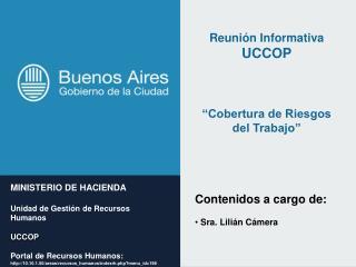 MINISTERIO DE HACIENDA Unidad de Gesti�n de Recursos Humanos UCCOP
