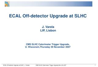 ECAL Off-detector Upgrade at SLHC