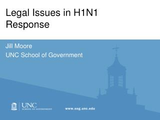 Legal Issues in H1N1 Response