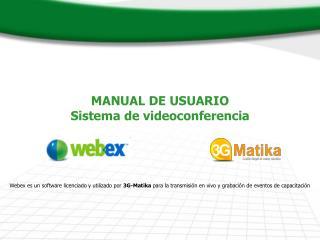 MANUAL DE USUARIO  Sistema de videoconferencia