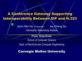 A Conference Gateway Supporting Interoperability Between SIP and H.323