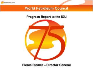 Progress Report to the IGU