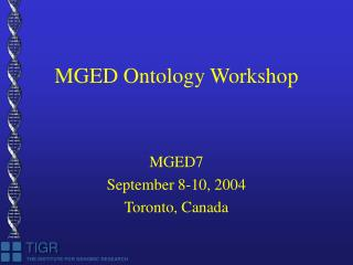 MGED Ontology Workshop