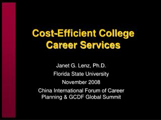 Cost-Efficient College Career Services