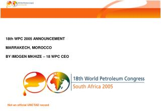 Not an official UNCTAD record