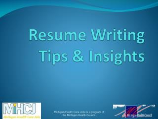 Resume Writing Tips & Insights