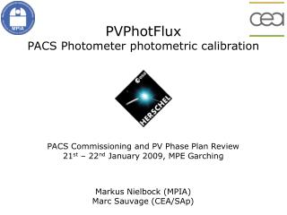 PVPhotFlux PACS Photometer photometric calibration