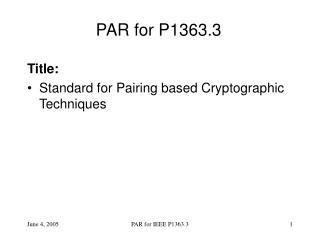 PAR for P1363.3