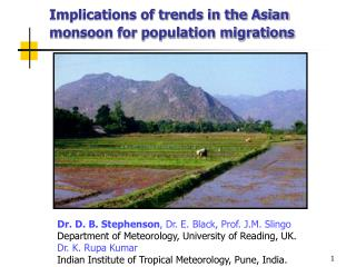 Implications of trends in the Asian monsoon for population migrations