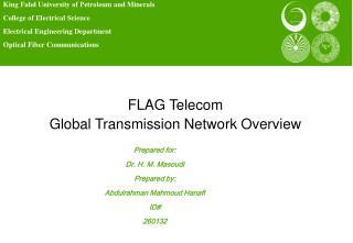 FLAG Telecom Global Transmission Network Overview