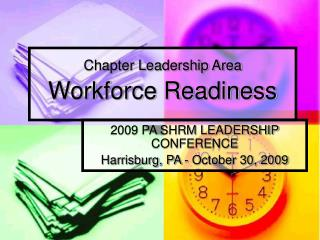 Chapter Leadership Area  Workforce Readiness