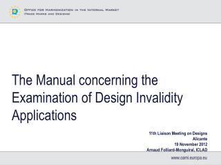 The Manual concerning the Examination of Design Invalidity Applications