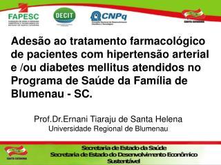 Prof.Dr.Ernani Tiaraju de Santa Helena Universidade Regional de Blumenau