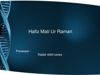 Hafiz Mati Ur Raman