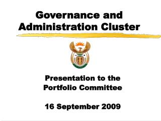 Governance and Administration Cluster