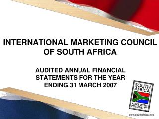 INTERNATIONAL MARKETING COUNCIL OF SOUTH AFRICA