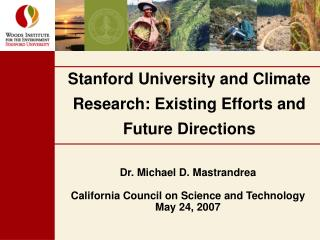 Stanford University and Climate Research: Existing Efforts and Future Directions
