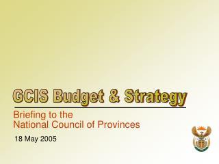 GCIS Budget & Strategy