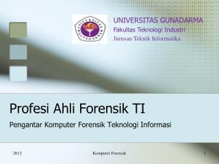Profesi Ahli Forensik TI