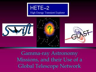 Gamma-ray Astronomy Missions, and their Use of a Global Telescope Network