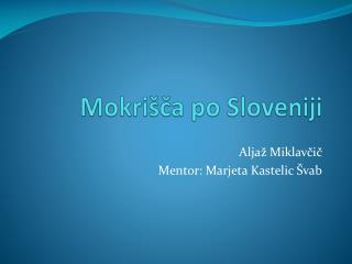Mokri ca po Sloveniji