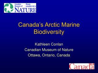 Canada's Arctic Marine Biodiversity