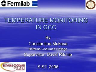 TEMPERATURE MONITORING  IN GCC