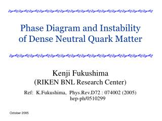 Phase Diagram and Instability of Dense Neutral Quark Matter