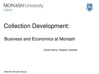 Collection Development: