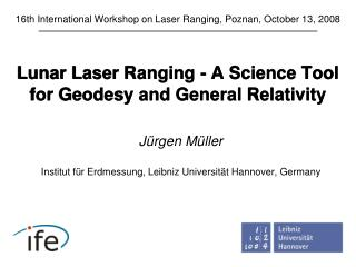 Lunar Laser Ranging -  A Science Tool for Geodesy and General Relativity
