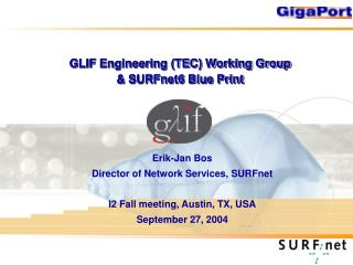 GLIF Engineering (TEC) Working Group & SURFnet6 Blue Print