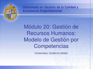 Diplomado en Gestión de la Calidad y Excelencia Organizacional