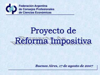 Buenos Aires, 17 de agosto de 2007