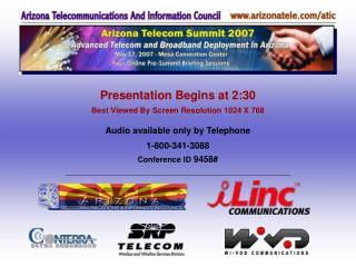 Presentation Begins at 2:30 Best Viewed By Screen Resolution 1024 X 768