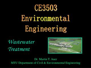 CE3503 Environmental Engineering