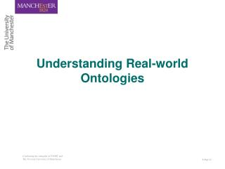 Understanding Real-world Ontologies