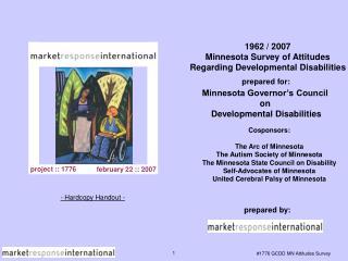 1962 / 2007 Minnesota Survey of Attitudes Regarding Developmental Disabilities