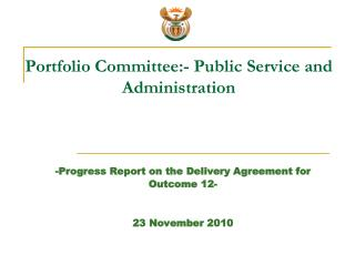 Portfolio Committee:- Public Service and Administration