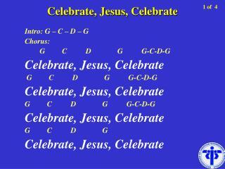 Celebrate, Jesus, Celebrate