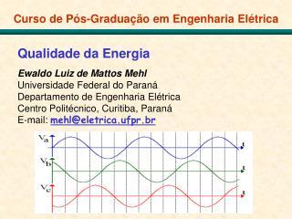 Curso de Pós-Graduação em Engenharia Elétrica