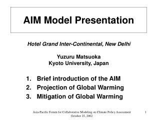 AIM Model Presentation