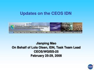 Updates on the CEOS IDN