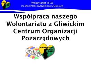 Współpraca naszego Wolontariatu z Gliwickim Centrum Organizacji Pozarządowych