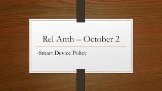 Rel Anth – October 2