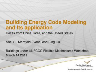 Building Energy Code Modeling and Its application