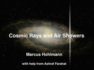Marcus Hohlmann with help from Ashraf Farahat