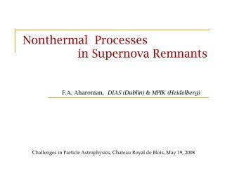 Nonthermal  Processes                  in Supernova Remnants