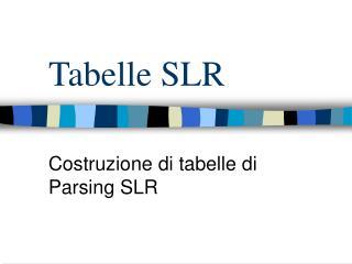 Tabelle SLR