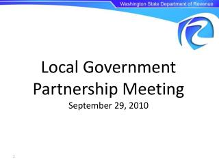 Local Government Partnership Meeting September 29, 2010